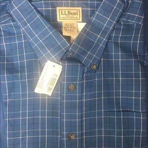 L .L. Bean long sleeve shirt NWT XXL-TALL